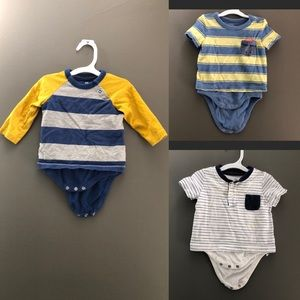 Set of 3 Baby Gap Onesie Shirts 3-6M